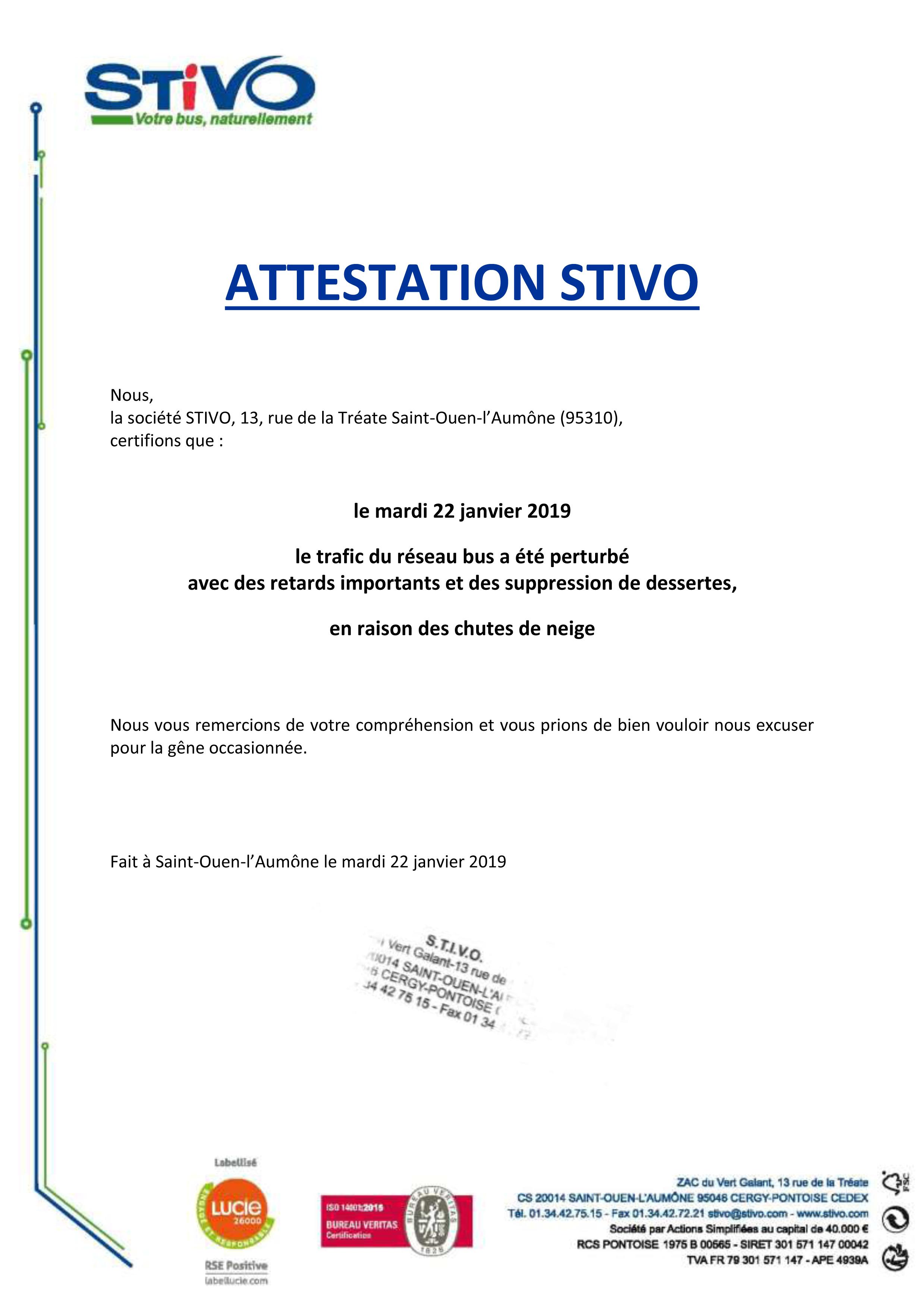 Attestation perturbations STIVO 22.01.2019
