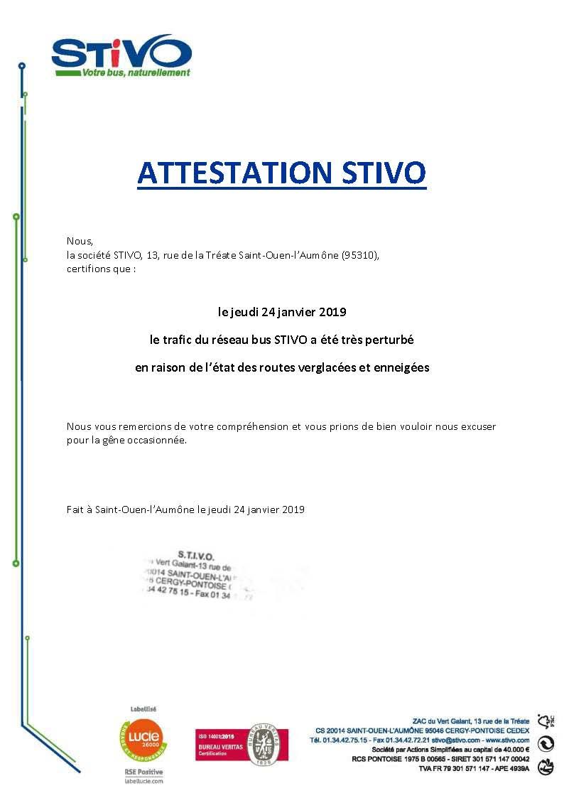 Attestation STIVO 24.01.2019