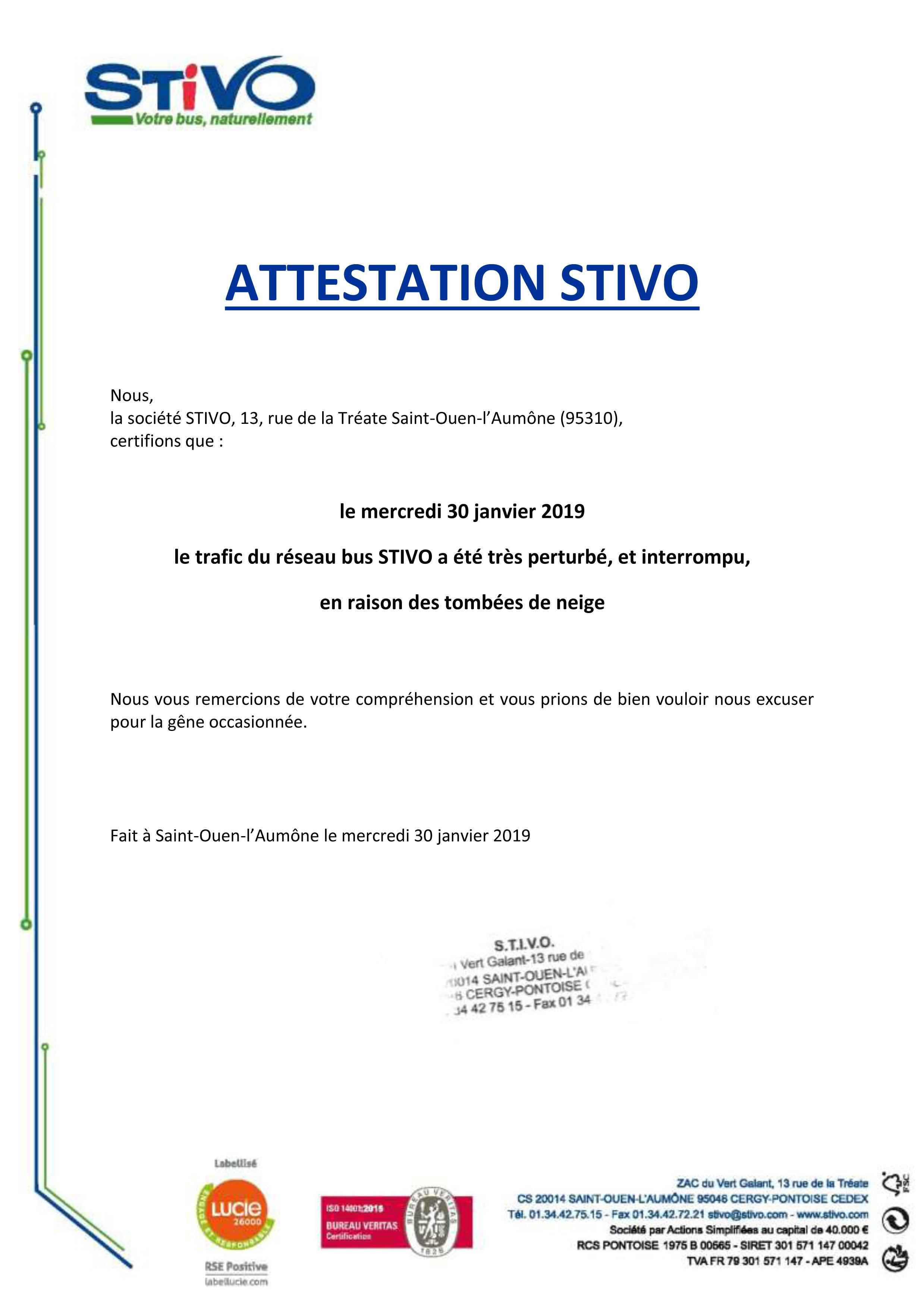 Attestation STIVO 30.01.2019