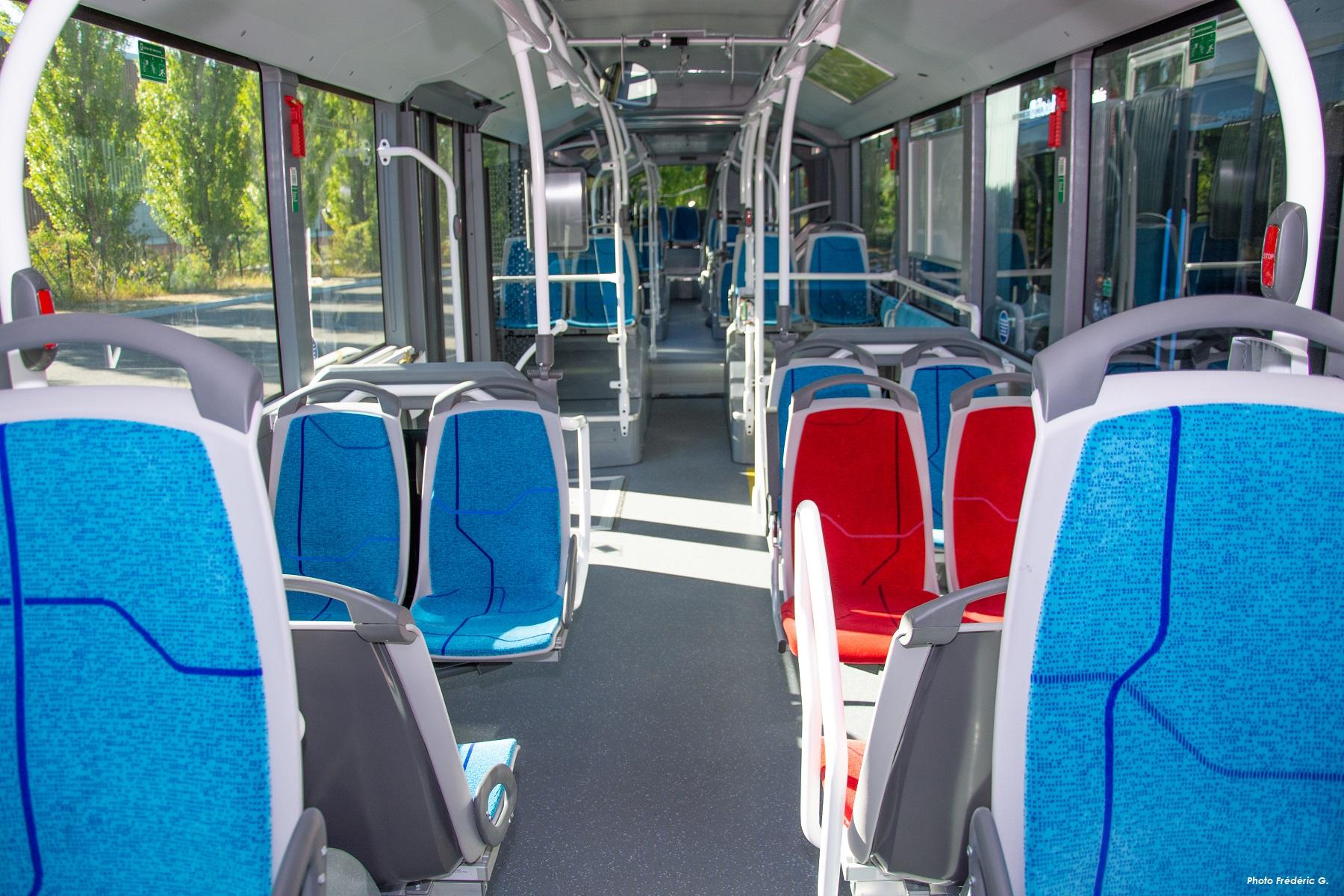 Intérieur bus biométhane