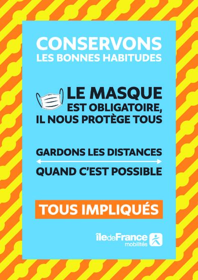 Masque obligatoire - Gardons les distances si possible